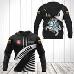 Customize Lithuania Coat Of Arms Black Style All Over Print Hoodies