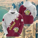 Qatar Smudge Version All Over Print Hoodies