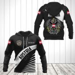 Customize Austria Coat Of Arms Black Style All Over Print Hoodies