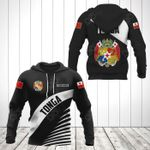 Customize Tonga Coat Of Arms Black Style All Over Print Hoodies