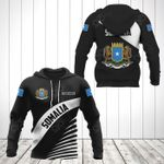 Customize Somalia Coat Of Arms Black Style All Over Print Hoodies