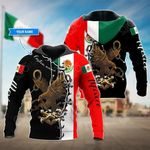 Customize Mexico Flag With Eagle All Over Print Hoodies