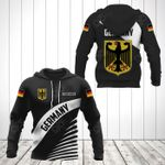 Customize Germany Coat Of Arms Black Style All Over Print Hoodies