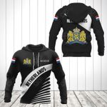 Customize Netherlands Coat Of Arms Black Style All Over Print Hoodies