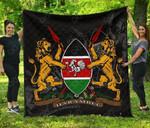 Kenya Coat Of Arms - Quality Premium Quilt