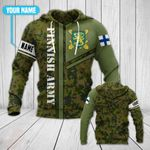 Customize Finnish Army Emblem All Over Print Hoodies