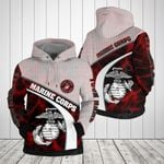 Customize Marine Corps Symbol Lightning All Over Print Hoodies