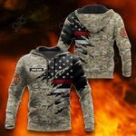 Customize US Firefighter Camo 3D All Over Print Hoodies