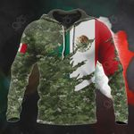 Mexico Flag Camo 3D All Over Print Hoodies