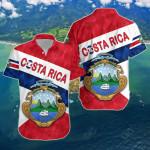 Costa Rica Sporty Style Short Sleeve Linen Button Down Shirt