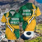 South Africa Springboks Rugby Be Fancy Short Sleeve Linen Button Down Shirt