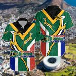 South Africa Springboks Rugby Be Proud Short Sleeve Linen Button Down Shirt