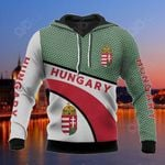 Hungary Coat Of Arms Hexagon Pattern All Over Print Hoodies
