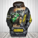 Farmer Tractor All Over Print Hoodie