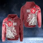 Isle Of Man Flag With Celtic Cross - Red Version All Over Print Hoodies