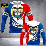 Customize Colombia Coat Of Arms New Style All Over Print Hoodies