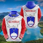 Slovenia Mix All Over Print Hoodies