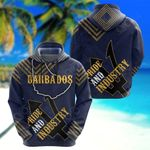Barbados Pride And Industry V2 All Over Print Hoodies