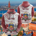 Latvia Mix All Over Print Hoodies