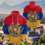 Coat Of Arms Armenia Flag Pattern All Over Print Hoodies