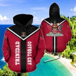 Trinidad And Tobago Rising All Over Print Hoodies