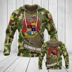 National Army Of Colombia Camo - New Form All Over Print Hoodies