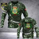 Customize Denmark Army Camo - New Form All Over Print Hoodies