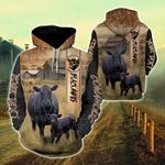 Customize Black Angus All Over Print Hoodie