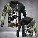 Customize Irish Army Soldier All Over Print Hoodies