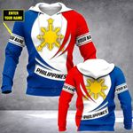 Customize Philippines Coat Of Arms - New Form All Over Print Hoodies