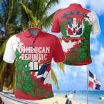 Dominican Republic - Swietenia Mahagoni All Over Print Polo Shirt