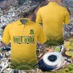 South Africa Circle Mandala Yellow All Over Print Polo Shirt