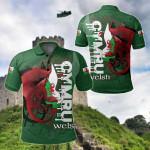 Wales Flag - Cymru Dragon All Over Print Polo Shirt