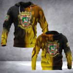 Puerto Rico Fire Style All Over Print Hoodies