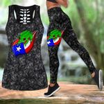 Habiscus Frog Leaf Puerto Rico Hollow Tank Top Or Legging