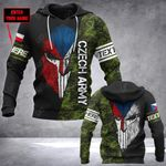 Customize Czech Army Mask Style All Over Print Hoodies