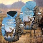 Custom Name Hunting Camo - Blue All Over Print Hoodies
