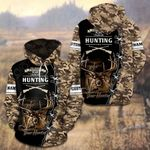 Custom Name Hunting Camo Deer Hunter All Over Print Hoodies