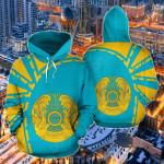 Kazakhstan Premium Style All Over Print Hoodies