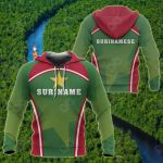 Suriname Sport Style All Over Print Hoodies
