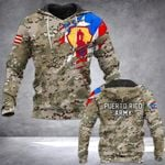 Puerto Rico Army Camo All Over Print Hoodies