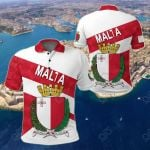 Malta Sporty Style All Over Print Polo Shirt