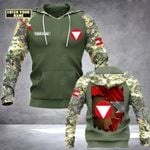Customize Austrian Army Flag Camo All Over Print Hoodies