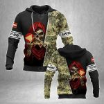 Customize Austrian Army With Skull All Over Print Hoodies