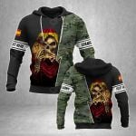 Customize Spanish Army With Skull All Over Print Hoodies