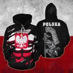 Poland In Me All Over Print Hoodies