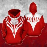 Poland Ray Style All Over Print Hoodies