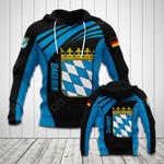 Bavaria Flag Blue All Over Print Hoodies