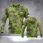 Customize Estonia Army Camo All Over Print Hoodies