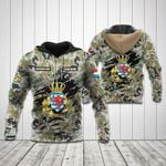 Customize Luxembourg Army Camo All Over Print Hoodies